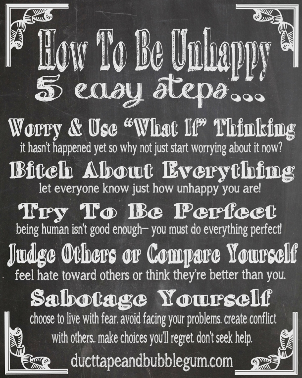 chalkboard how to unhappy tips